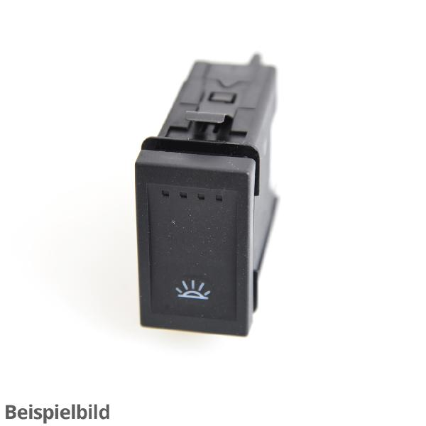 Bedieneinheit mit LED-Innen- und Leseleuchte 5H0959561L TJA schwarz/silber