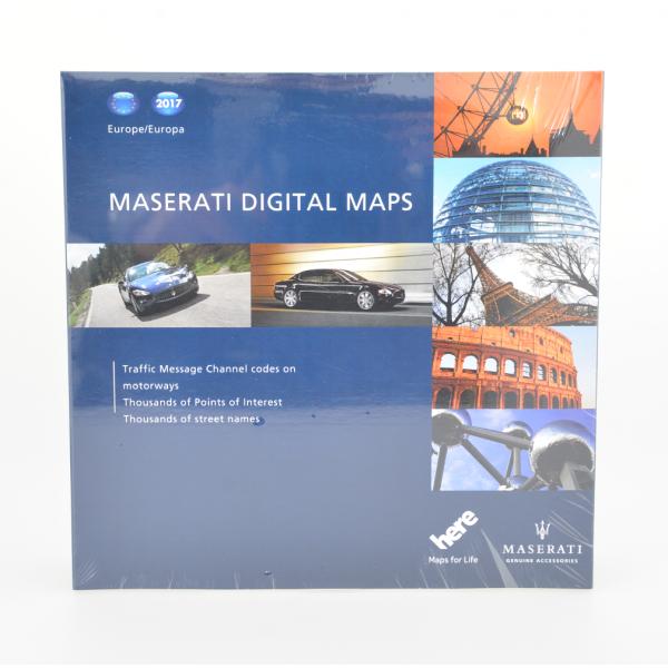 Maserati Navigationskarten update Europa 2017