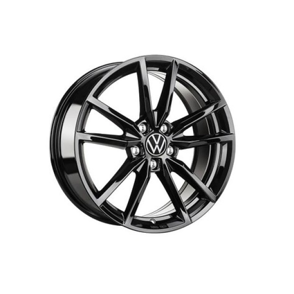 Aluminiumfelge PRETORIA 7,5x18 ET51 5G0071498A AX1 hochglanz-schwarz
